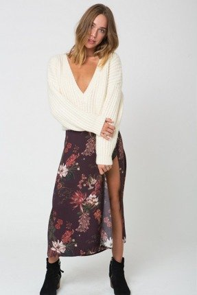 FLARE SKIRT CHERRY BLOSSOM