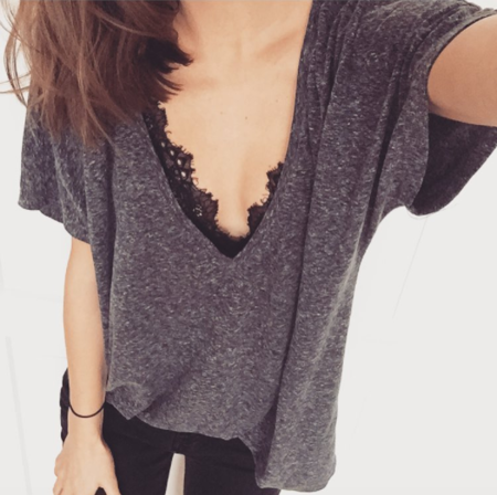 BACKLESS T-SHIRT GRAPHITE