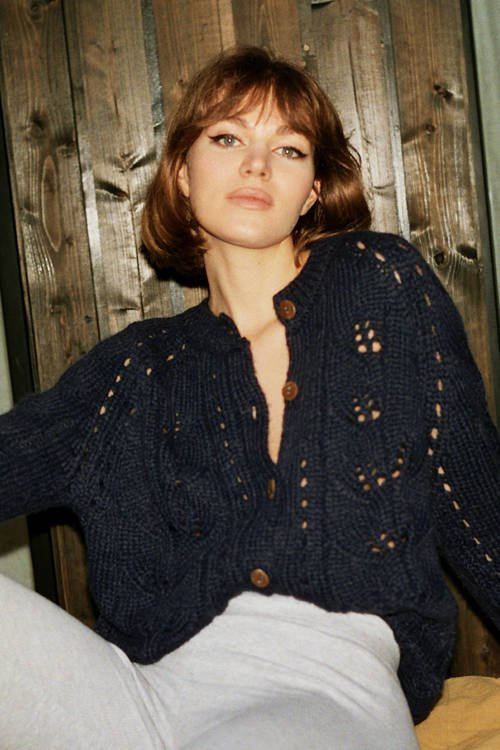 GAIA CARDIGAN  DEEP BLUE