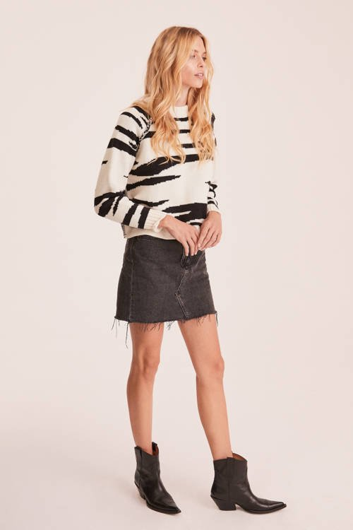 HONEY SWEATER BLACK & WHITE