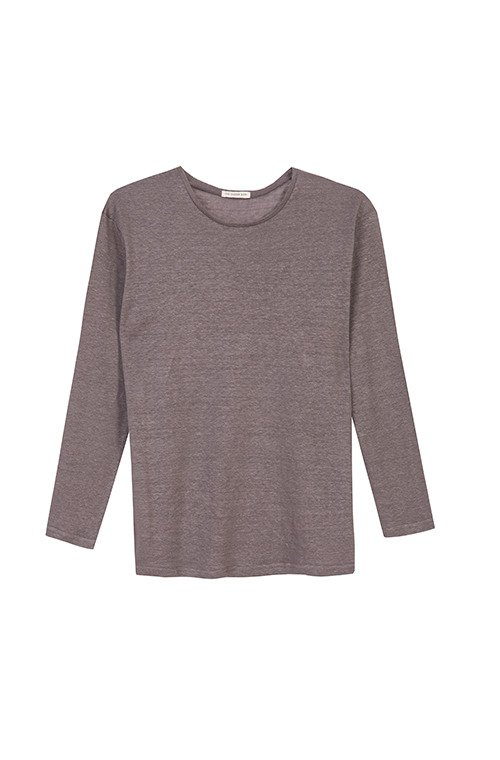 LONGSLEEVE CREWNECK LINEN  HEATHER GRAY