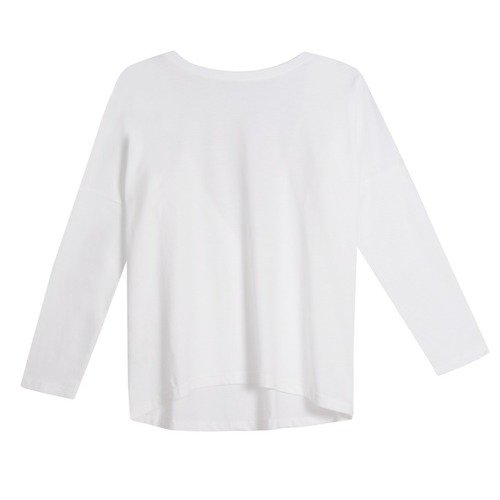 LONGSLEEVE V-BACK WHITE