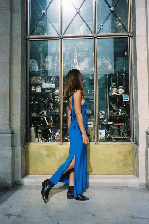 MUSE DRESS COBALT