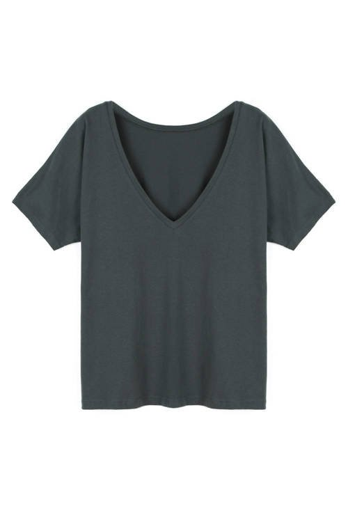 V-BACK T-SHIRT DARK GREY
