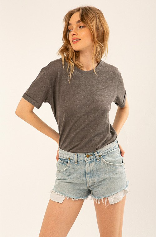 T-SHIRT VINTAGE LINEN HEATHER GRAY
